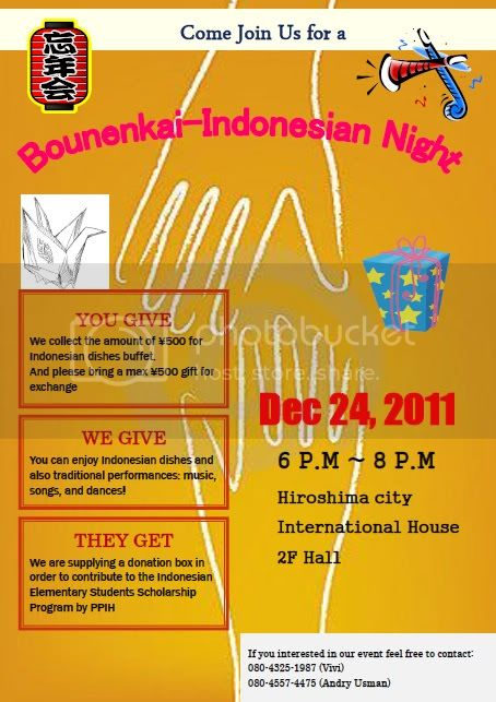 Indonesia night PPI Hiroshima